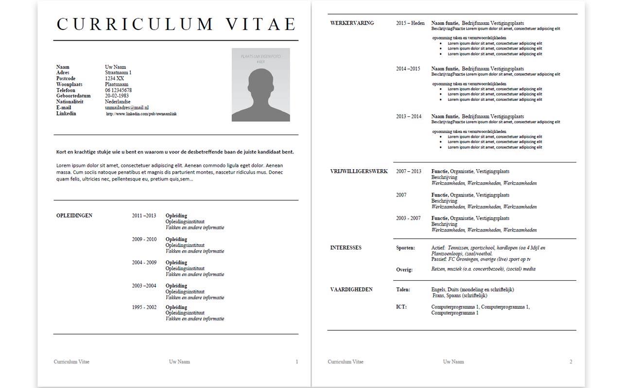 CV Template 007 – MV WERKCAFÉ